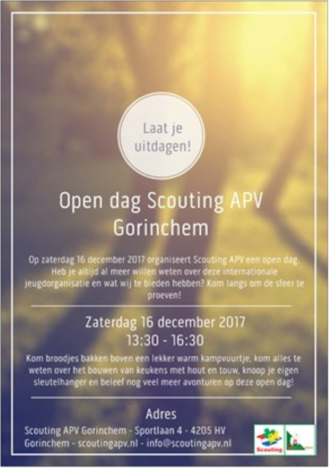 Flyer open dag APV 2017